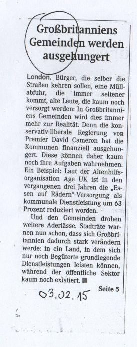 Wiener Zeitung vom 3.2.2015